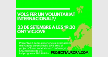 VOLS FER UN VOLUNTARIAT INTERNACIONAL